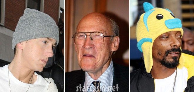 Alan Simpson callse Eminem and Snoop Dogg Enema Man and Snoopy Snoopy Poop Dog