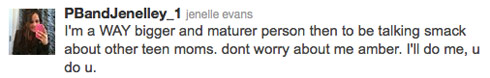 Jenelle Evans responds to Amber Portwood diss via Twitter