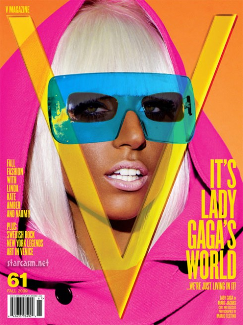 Lady Gaga on the cover of V whom whe will now be writing for