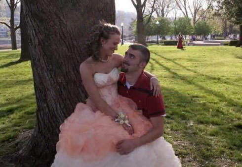 Teen Mom 2 star Leah Messer and Corey Simms with Leah in her prom dress