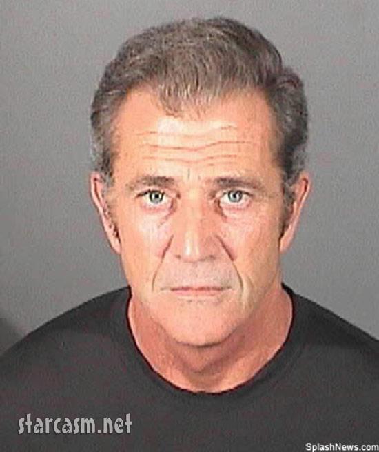 Mel Gibson angry mug shot