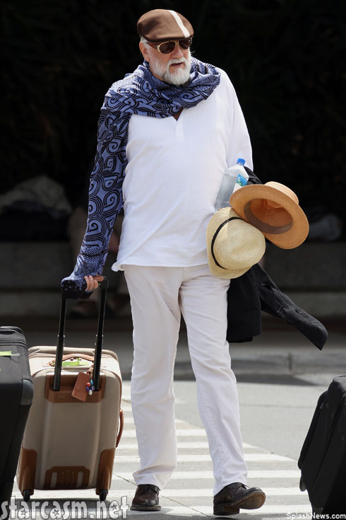 Mick Fleetwood has a hat attack in Hawaii