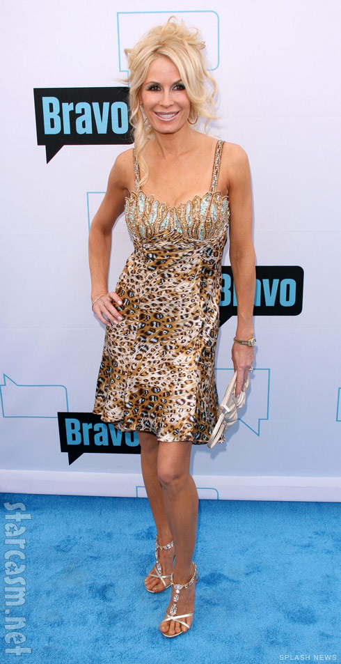 Peggy Tanous looking quite sexy in an animal print dress