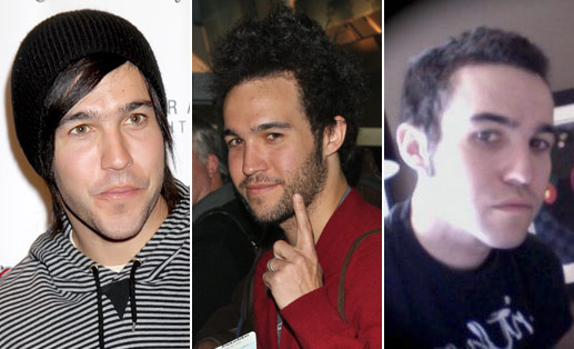 side-by-side-by-side of Pete Wentz's hair