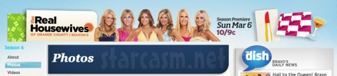 Real Housewives of Orange County banner with Fernanda Rocha from January 26 2011