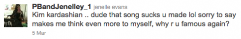 Teen Mom Jenelle Evans tweets her opinion of Kim Kardashian's song