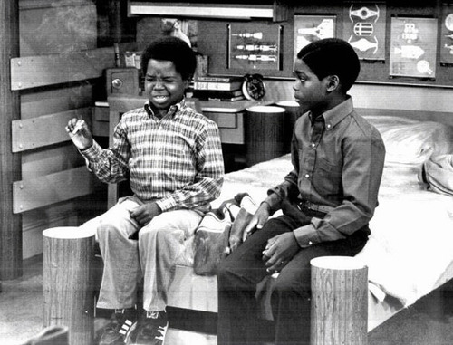 Gary Coleman as Arnold and Shavar Ross as Dudley on Diff'rent Strokes