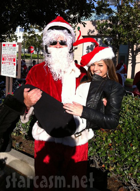 Tamra Barney's ex Simon Barney as Santa Claus with his girlfriend Kay