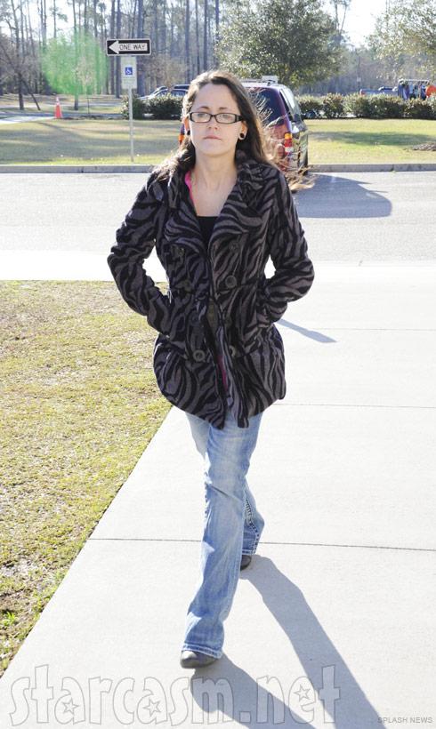 Jenelle Evans from Teen Mom 2 in a fierce tiger stripe coat