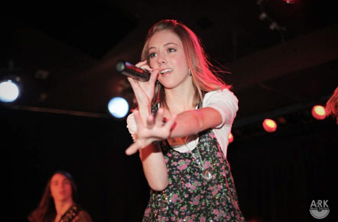 "Abby Victor sings ""Crush On You"" at the Ark Music Factory showcase"