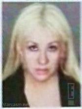 Christina Aguilera mug shot from her March 1 2011 arrest