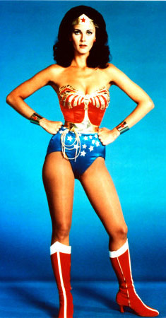 Lynda Carter as Wonder Woman ffrom the 1970s television show