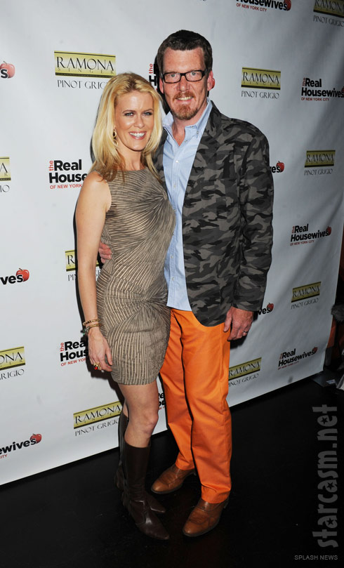 Alex McCord and husband Simon van Kempen at the RHONYC Season 4 Premiere Party