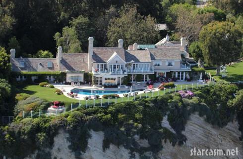 Aerial view of Barbara Streisand's Malibu home