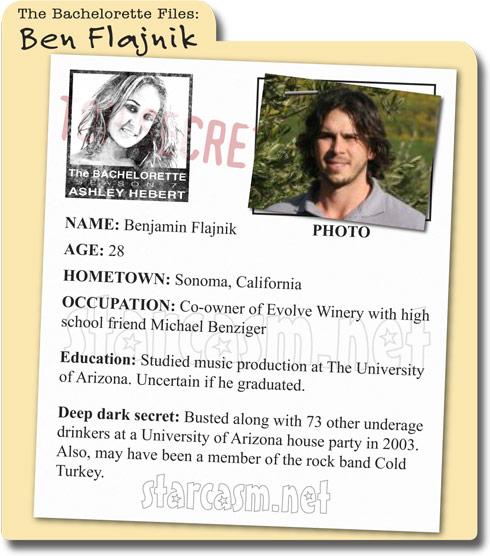 The Bachelorette's Benjamin Flajnik bio and background information