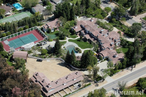 Aerial view of Britney Spears' Los Angeles home