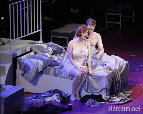 Christina Hendricks performs in the musical Company