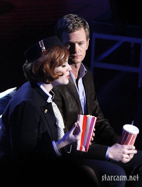 Mad Men star Christina Hendricks and neil Patrick Harris in Company