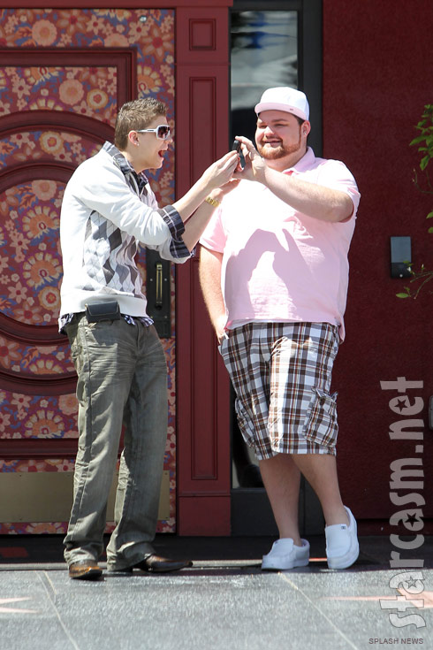 Teen Mom stars Gary Shirley and Tyler Baltierra in LA for Teen Mom Reunion Special