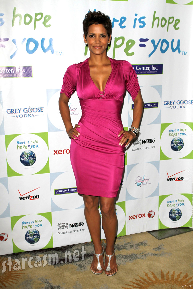 Halle Berry is sexy in pink at the 2011 Silver Rose Gala