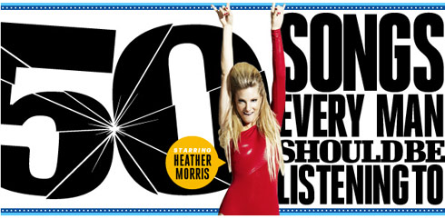 Glee's Heather Morris hosts Esquire Magazine's 50 Songs Every Man Should Be Listening To