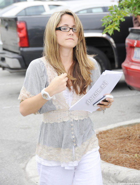 Teen Mom Jenelle Evans arrives for her infamous videotaped fight court appearance