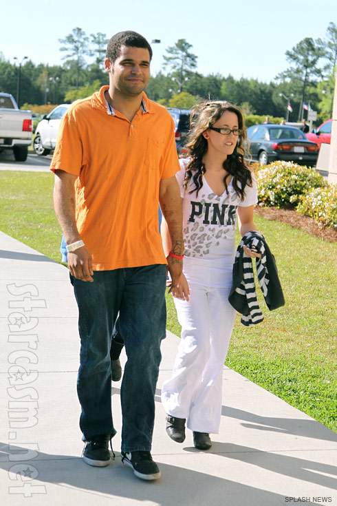 Teen Mom 2 Jenelle Evans and boyfriend Kieffer Delp arrive for court