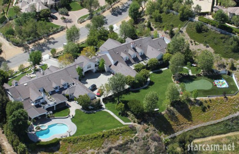 Aerial view of Jennifer Lopez and Marc Anthony's Los Angeles home