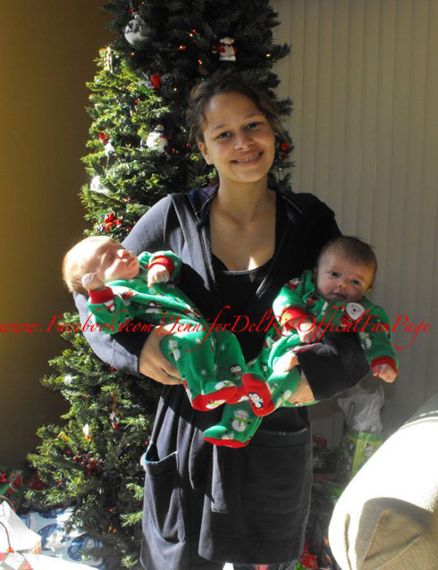 16 and Pregnant's Jennifer Del Rio celebrates Christmas with sons Josh and Noah
