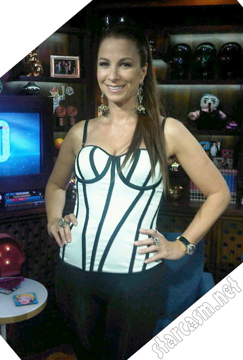 fc28388bf2654 RHONY Jill Zarin in a corset and Madonna ponytail on Watch What Happens Live