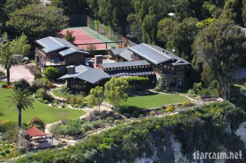 Aerial view of Julia Roberts' Malibu home