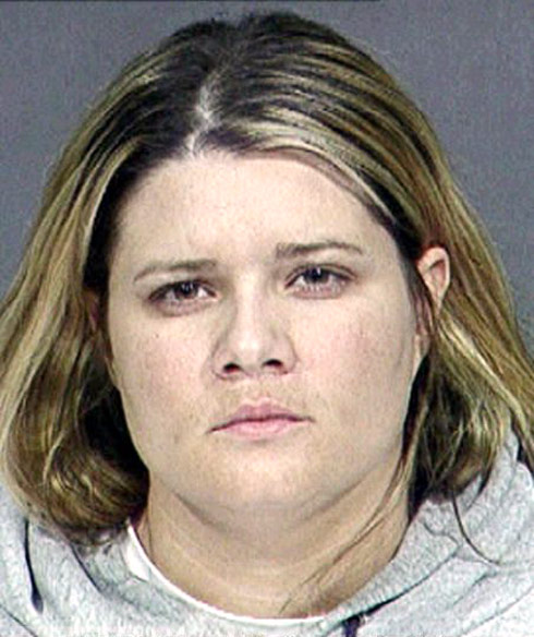 Mob Wives Karen Gravano's actual mugshotphoto from her 2000 arrest in Arizona