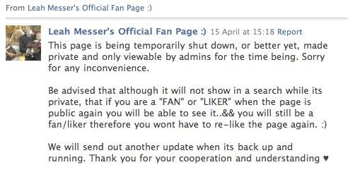 Leah Messer's official Facebook fan page shut down after Corey Simms divorce rumors