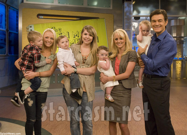 Maci Bookout Kailyn Lowry Leah Messer on the set of Dr. Oz.