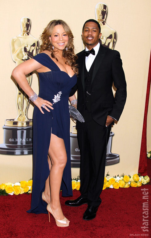 Mariah Carey and husband Nick Carter at the 82nd Academy Awards