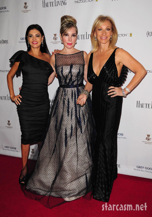 Miami Housewives Adriana, Marysol and Lea at the Black's Annual Gala 2011