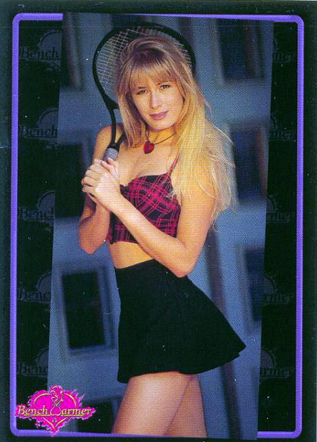 Peggy Tanous as Peggy Farney on a Bench Warmer trading card