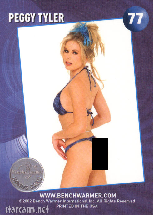 Peggy Tyler 2002 Bench Warmer Bonus Card number 77