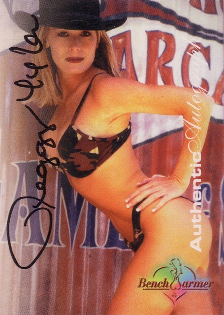 Peggy Tyler Bench Warmer bikini card from 1997