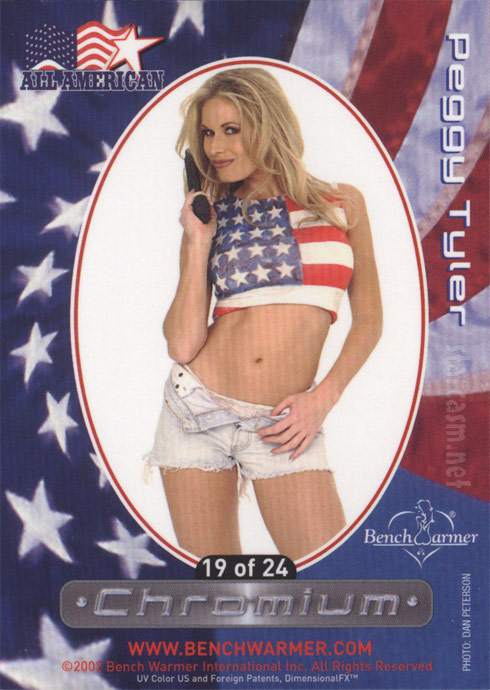 Back of Peggy Tyler All American Bench Warmer trading card 19 of 24