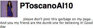 Pia Toscano dismisses New York Post old boyrfriend article via twitter