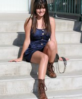 Friday Singer Rebecca Black poses for pictures at her billboard unveiling (2 of 16)