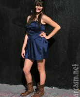 Friday Singer Rebecca Black poses for pictures at her billboard unveiling (6 of 16)