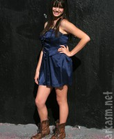 Friday Singer Rebecca Black poses for pictures at her billboard unveiling (14 of 16)