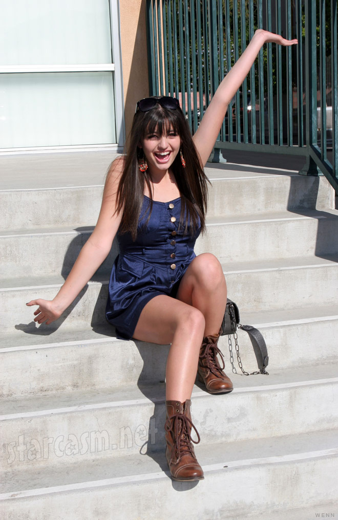 Rebecca Black is so so so excited at the unveiling of her billboard in Los Angeles