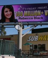 Friday singer Rebecca Black unveils billboard in Los Angeles