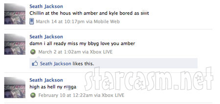 Seath Jackson status update about Amber Wright