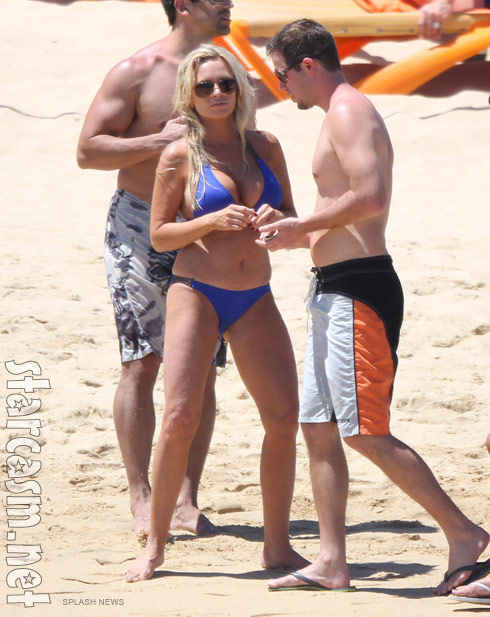 Tamra Barney of The Real Housewives of Orange County wearing a bikini in Mexico
