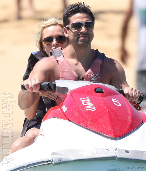 Real Housewives of Orange County's Tamra Barney on a jet ski with Eddie Judge