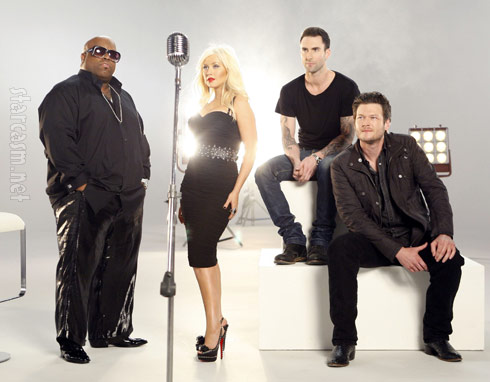 Cee Lo Green Christina AGuilera Adam Levine and Blake Shelton The Voice promo